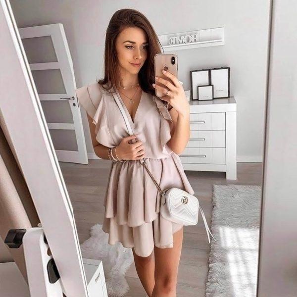 Dámské elegantní šifónové šaty s volánky Louisa