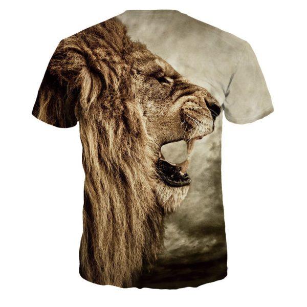 Pánské stylové 3D tričko Lion