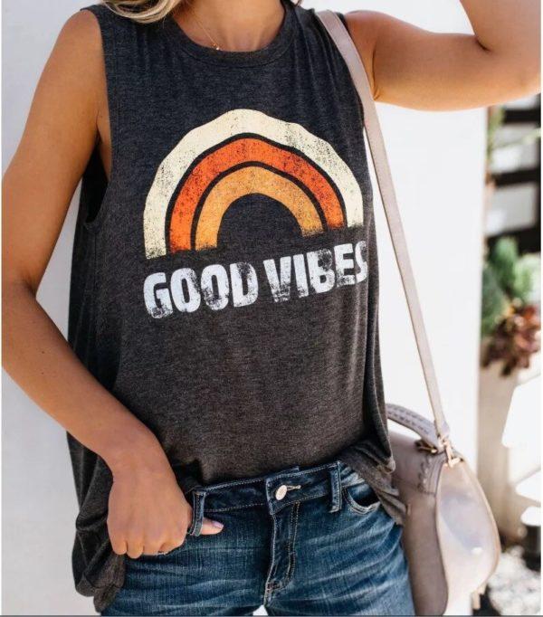 Dámské stylové triko bez rukávů Good