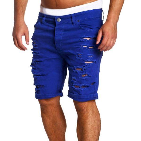 Pánské ležérní trhané džínové kraťasy Douglas