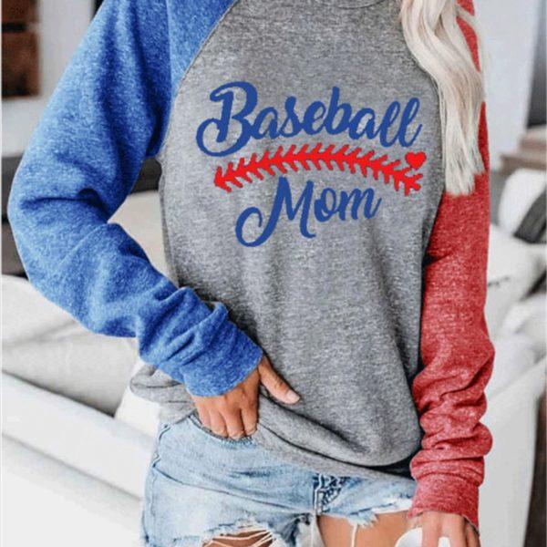 Dámské trendy baseballové triko Liana