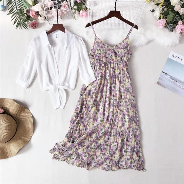 Dámský letní elegantní set Floral - kolekce 2020