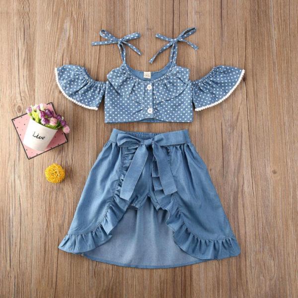 Dívčí trendy džínový set Elissa - kolekce 2020