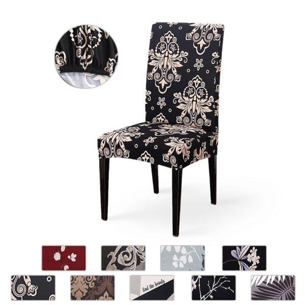 Elastické potahy na židle se vzorem Steele