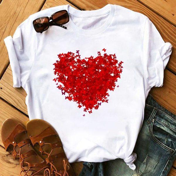 Dámské stylové triko Hearts