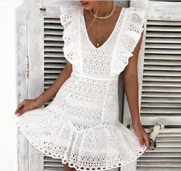Dámské elegantní krajkové šaty Lucie