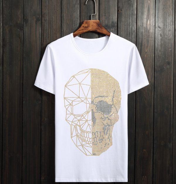 Pánské trendy triko se štrasovými kamínky Jerry