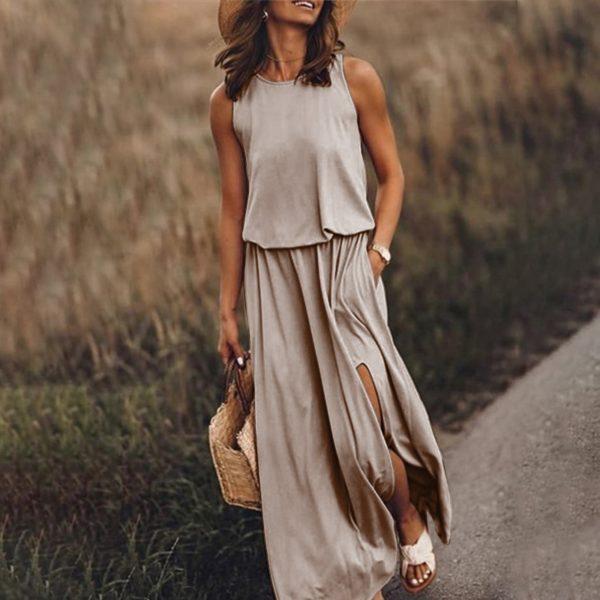 Dámské letní módní maxi šaty Whitney