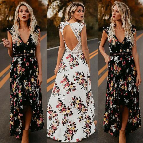 Dámské letní květované maxi šaty Nevin