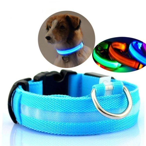 Nylonový svítící LED obojek pro psy Eli
