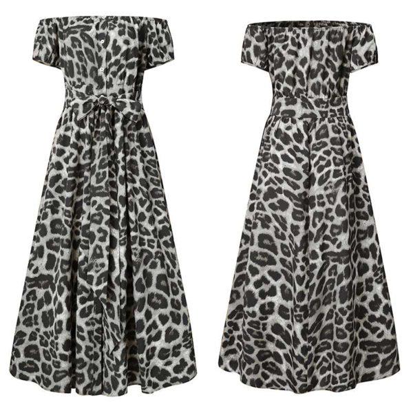 Dámské letní vzorované plus size šaty Clare