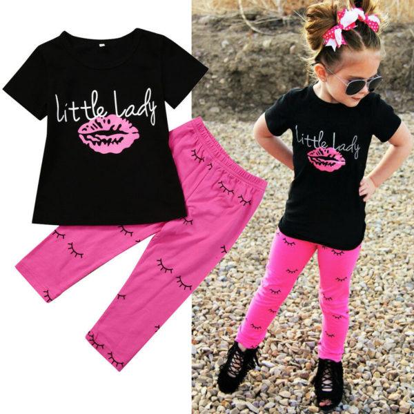 Dívčí stylová letní souprava Little Lady - kolekce 2020