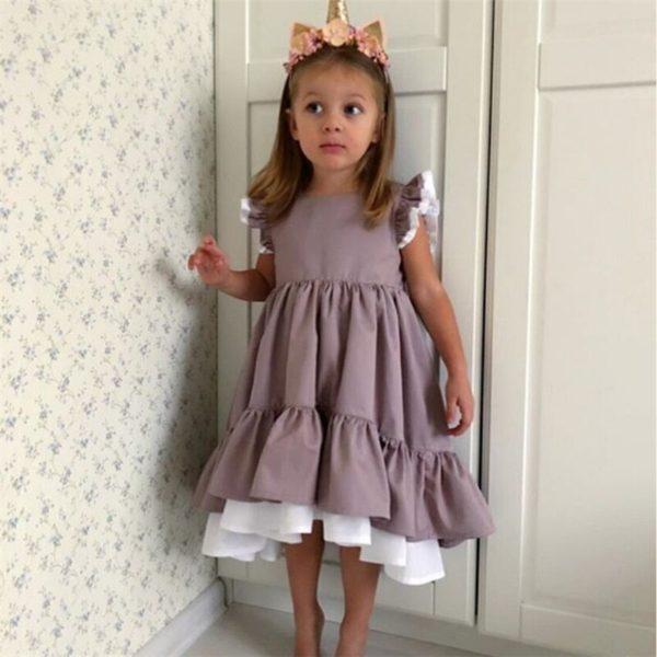 Dívčí elegantní šaty s volánky Katie