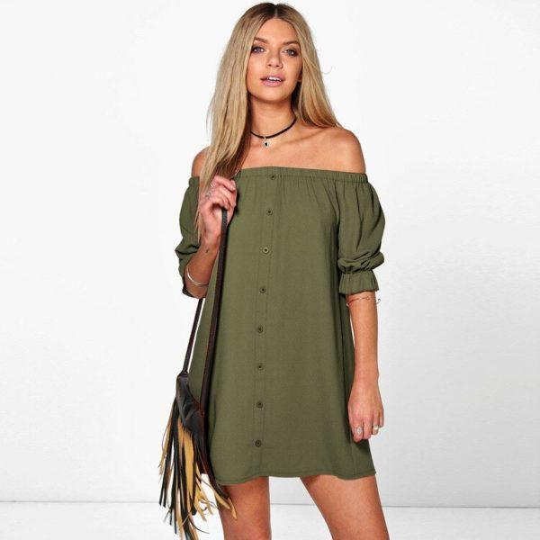 Dámské letní šaty bez ramínek Rumia