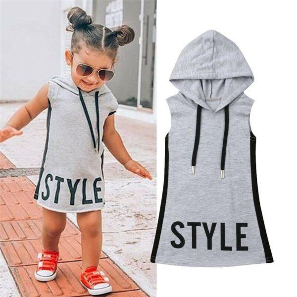 Dívčí stylové šaty s kapucí Aldena