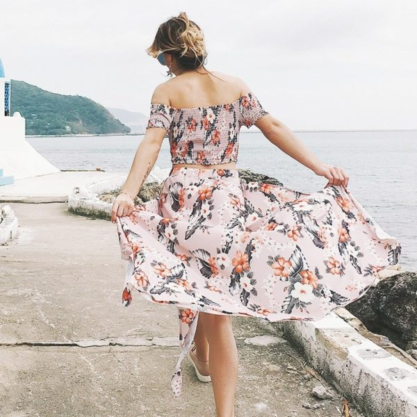 Dámská dlouhá sukně s topem