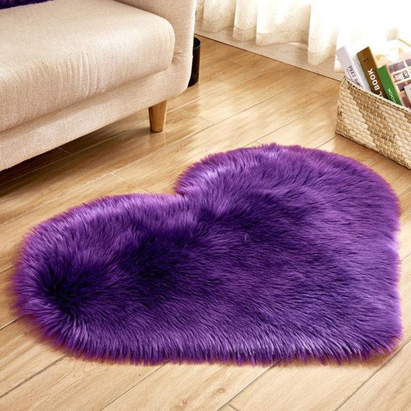 Luxusní kobereček ve tvaru srdce s vysokým vlasem Hanna