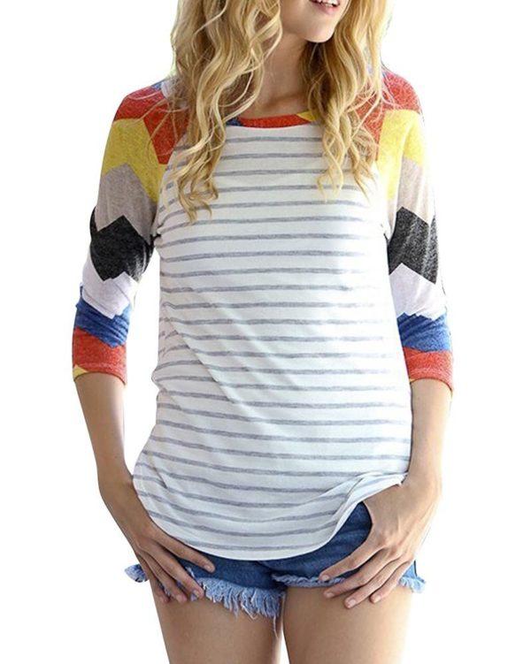 Dámské módní triko s dlouhým rukávem Monie