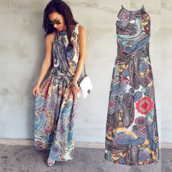Dámské moderní maxi šaty Cassie