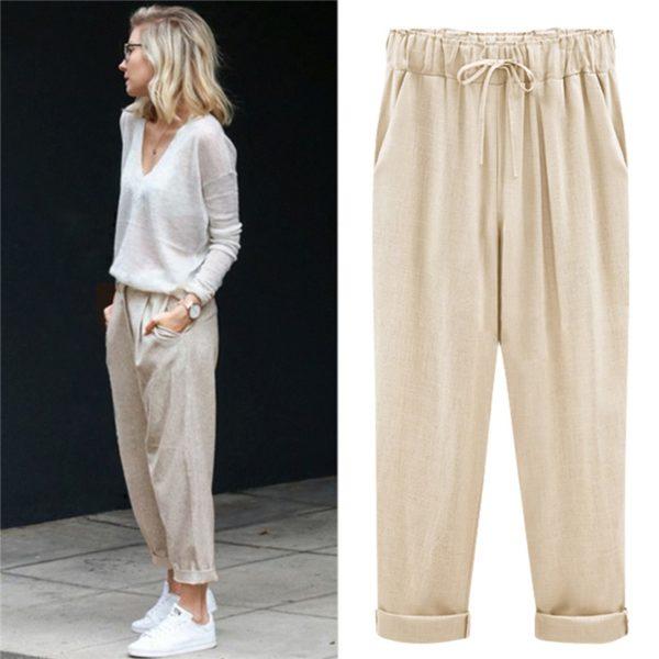 Dámské módní harem kalhoty Hanna