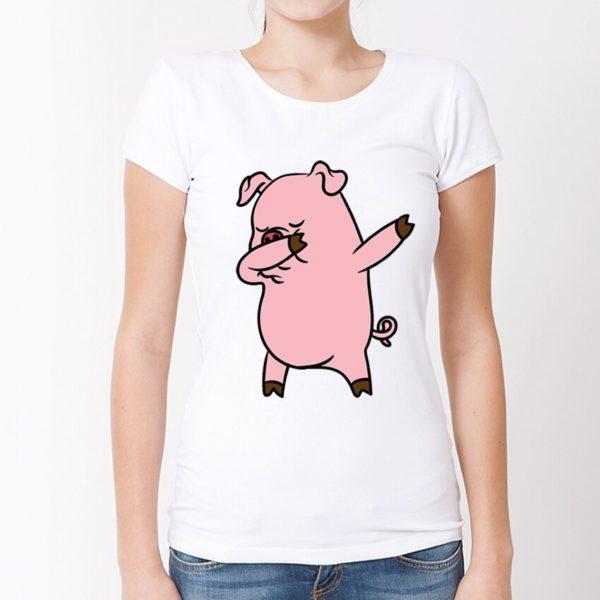 Dámské vtipné tričko Pig