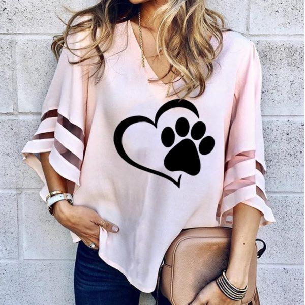 Dámský stylový volný top Dog Love