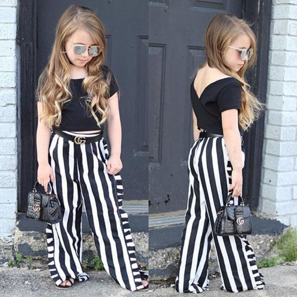 Dívčí elegantní souprava Jasmine - top, kalhoty