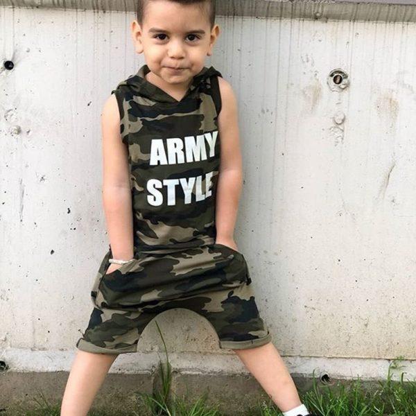 Chlapecká letní maskáčová souprava Juli - kraťasy, triko