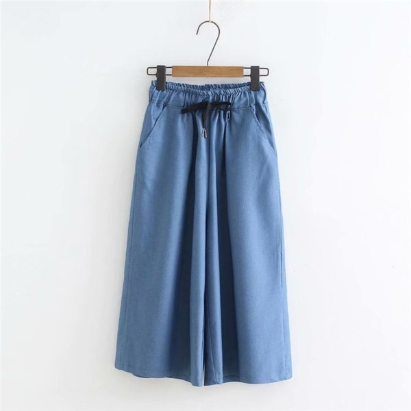 Dámské letní široké džínové kalhoty Shelby