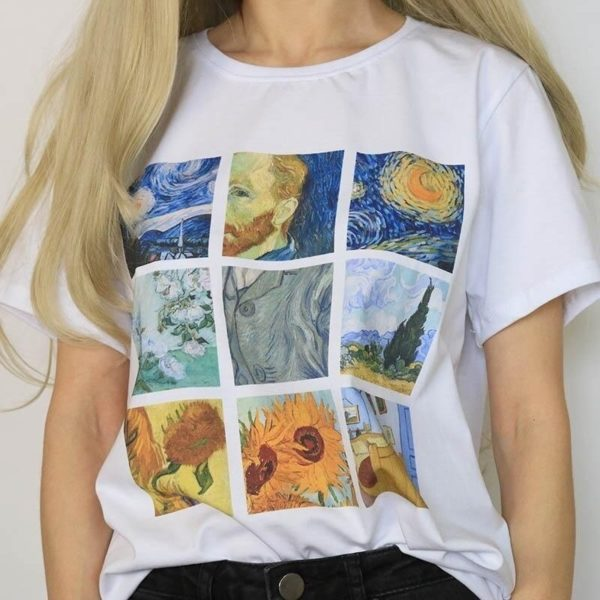 Dámské retro tričko Van Gogh