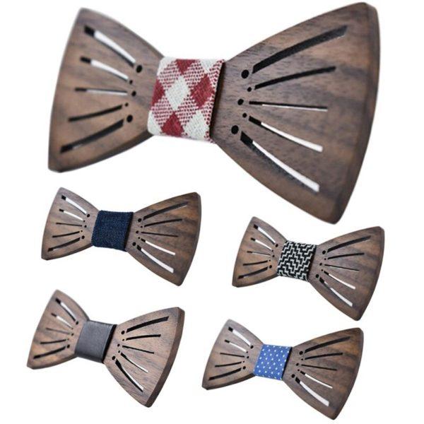 Pánský stylový dřevěný motýlek Wick