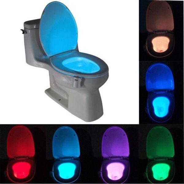 Noční LED světlo do toalety Dixon