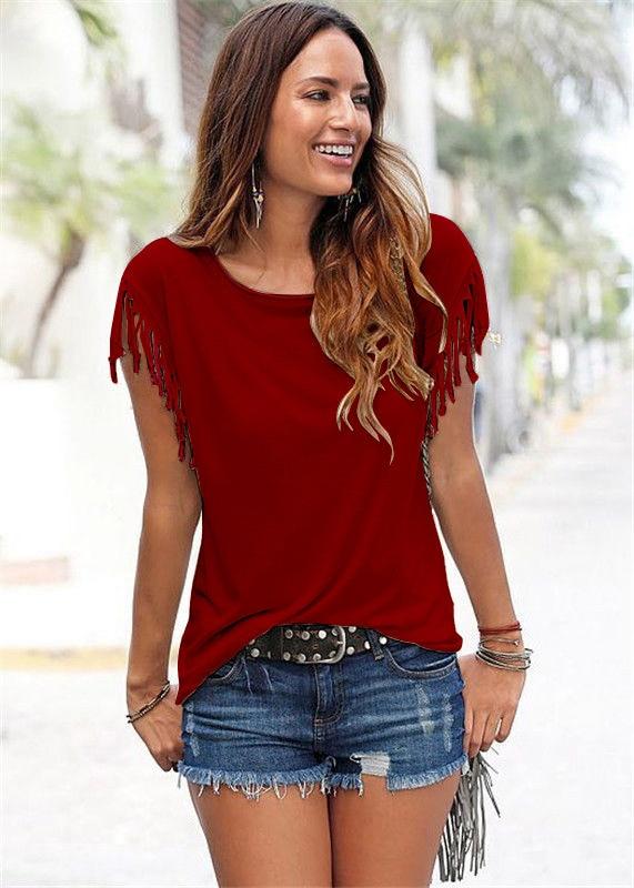 Dámské módní triko s třásněmi Brooke
