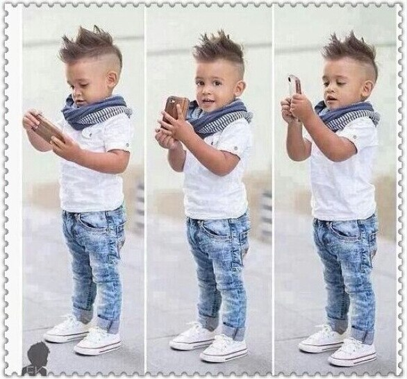 Chlapecká cool souprava Berry - džíny, košile, šála