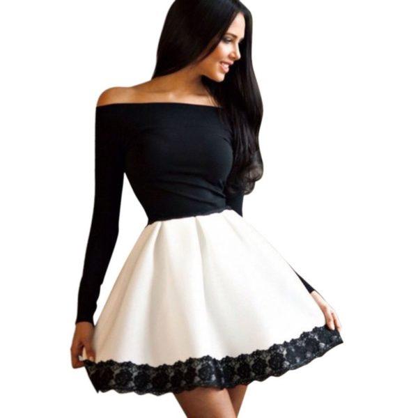 Dámské moderní společenské šaty na ramena Mariana