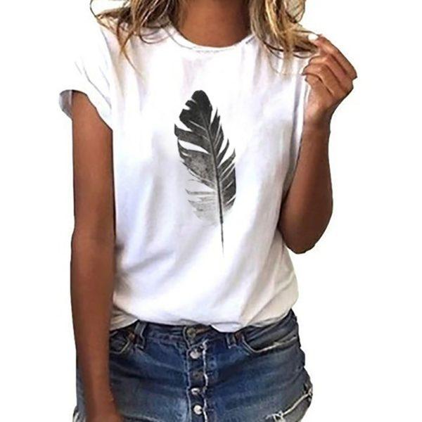 Dámské tričko s pírkem Aria