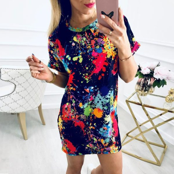 Dámské mini barevné šaty Jayla