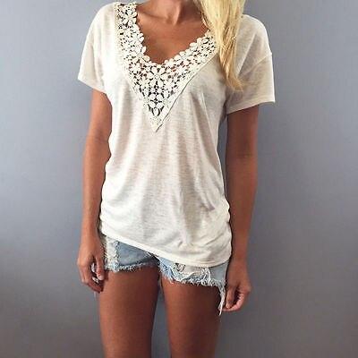 Dámské bílé tričko s květovanou krajkou