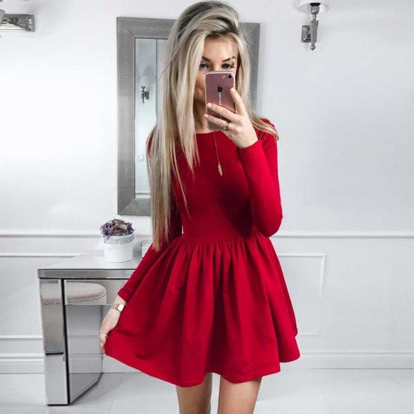 Dámské jednobarevné šaty Jamya