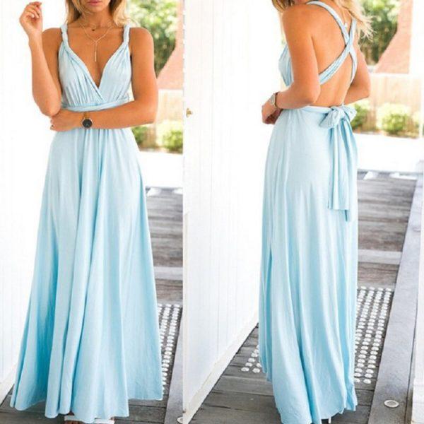 Dámské elegantní dlouhé vázací šaty Liliana