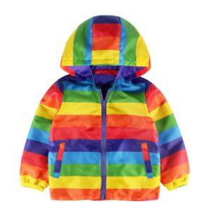 Dětská podzimní nepromokavá bunda s kapucí