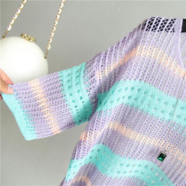 Dámský stylový svetr s velkými oky Amber