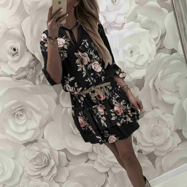 Dámské stylové šaty s volány Kathrin