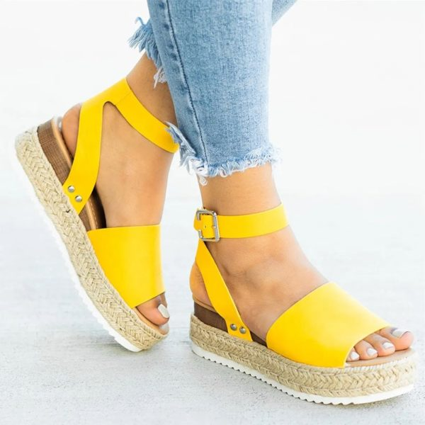 Dámské letní sandále na vysoké platformě