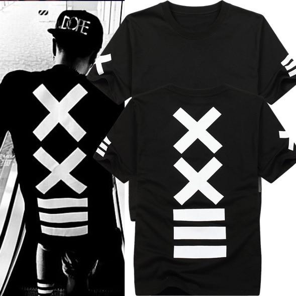 Pánské stylové triko s potiskem na zádech Luise