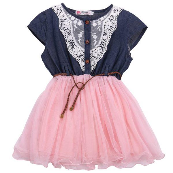 Dívčí elegantní šaty s tylovou sukní Princess