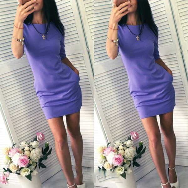 Dámské sportovně elegantní šaty s kapsami Michelle