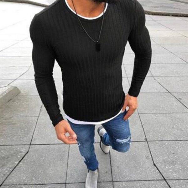 Pánský módní ležérní pletený svetr Jakob