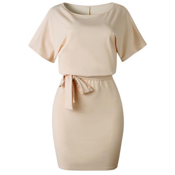 Dámské elegantní pouzdrové šaty s páskem Janetta