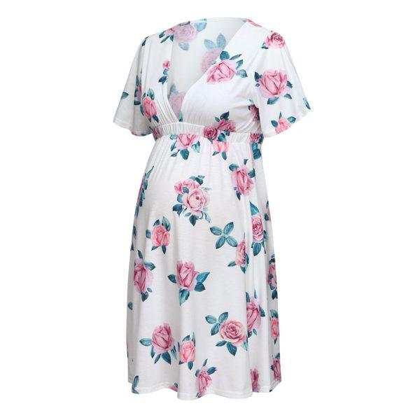 Dámské stylové těhotenské šaty